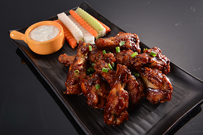 Spicy BBQ Chicken wings 400x267